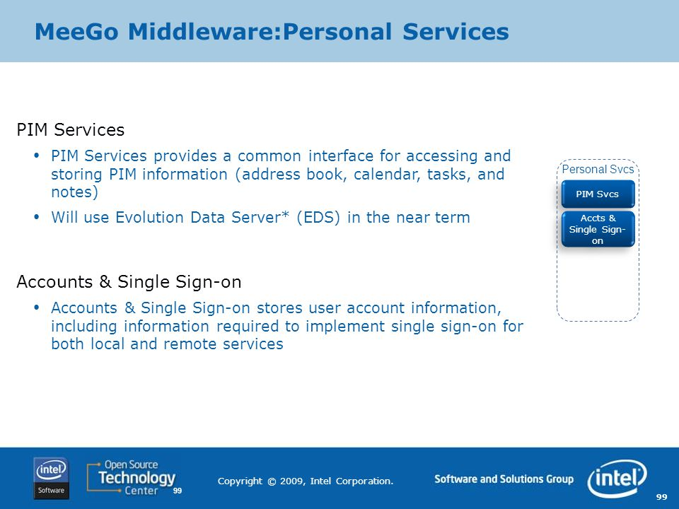 MeeGo Middleware:Personal Services