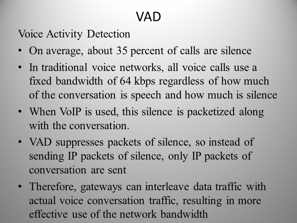 VAD Voice Activity Detection