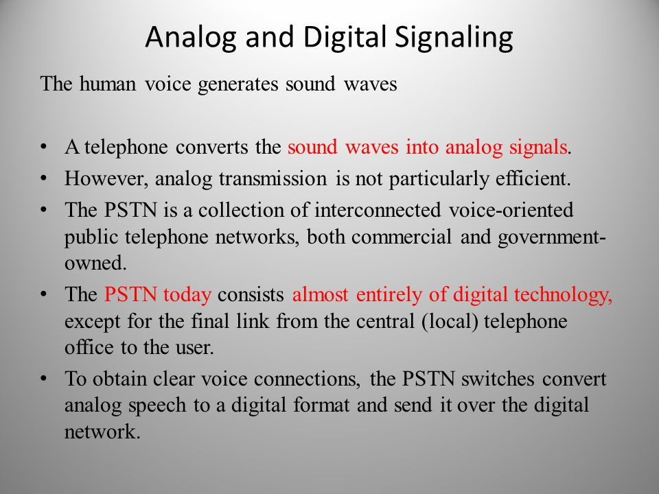 Analog and Digital Signaling