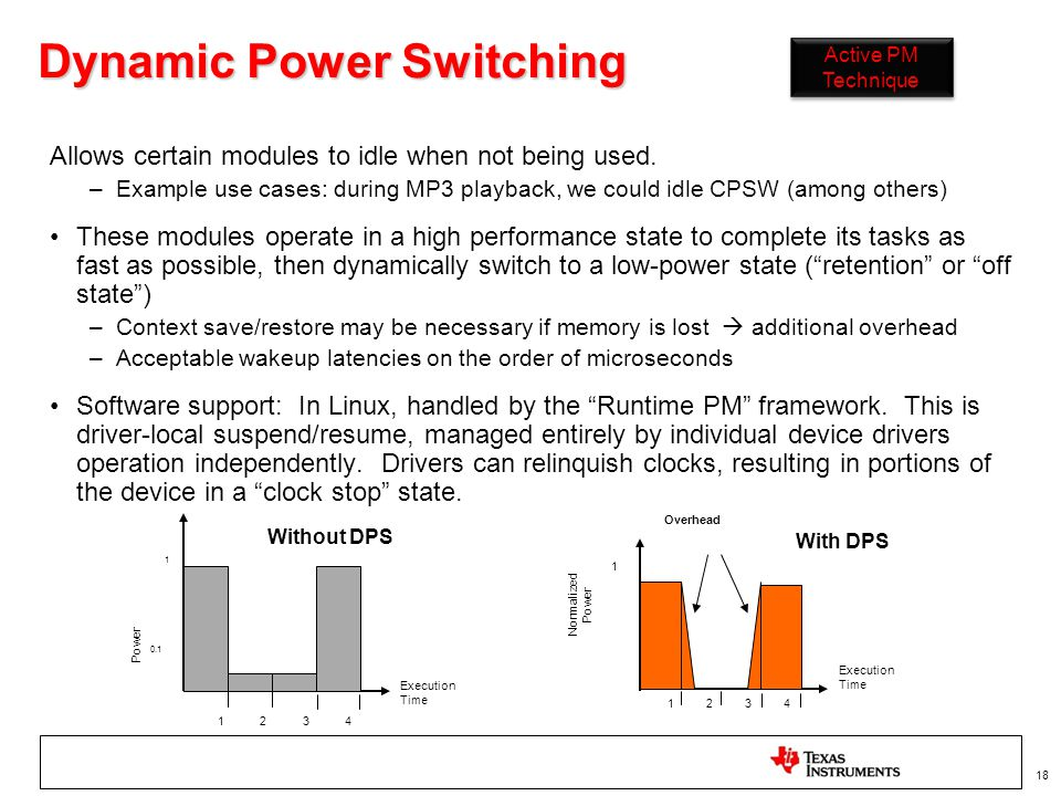 Dynamic Power Switching