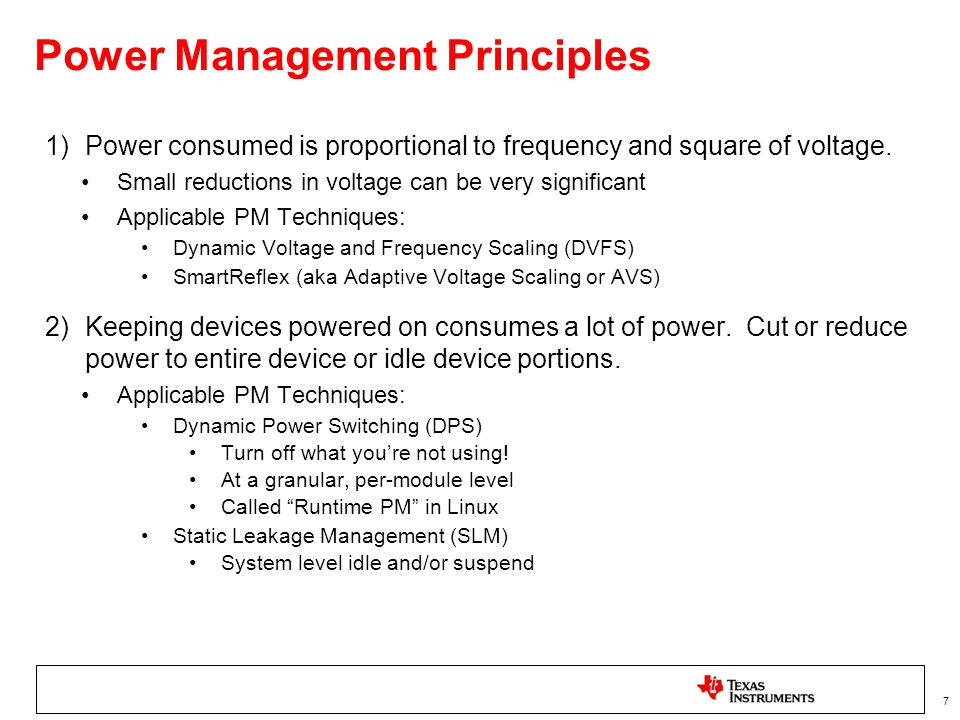 Power Management Principles