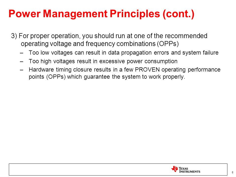 Power Management Principles (cont.)