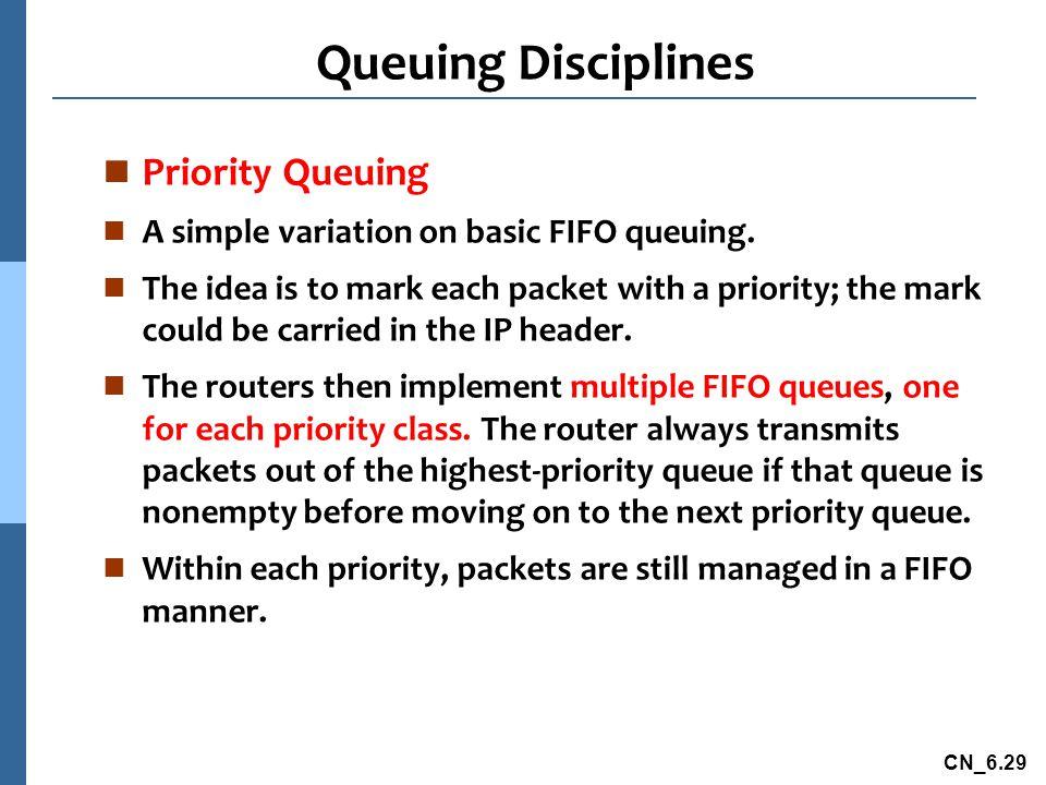 Queuing Disciplines Priority Queuing