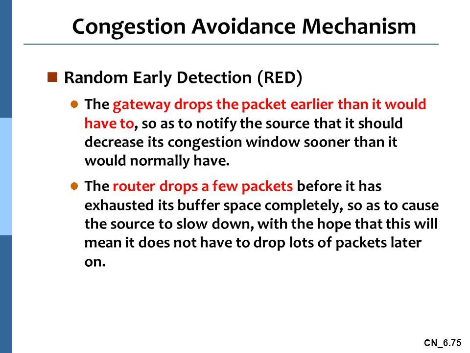 Congestion Avoidance Mechanism