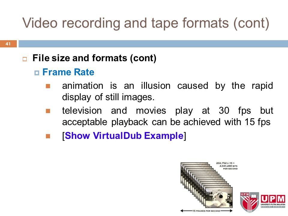Video recording and tape formats (cont)