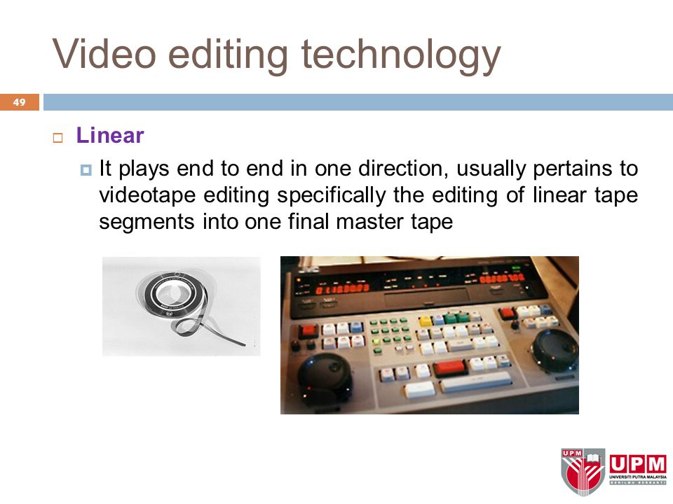 Video editing technology