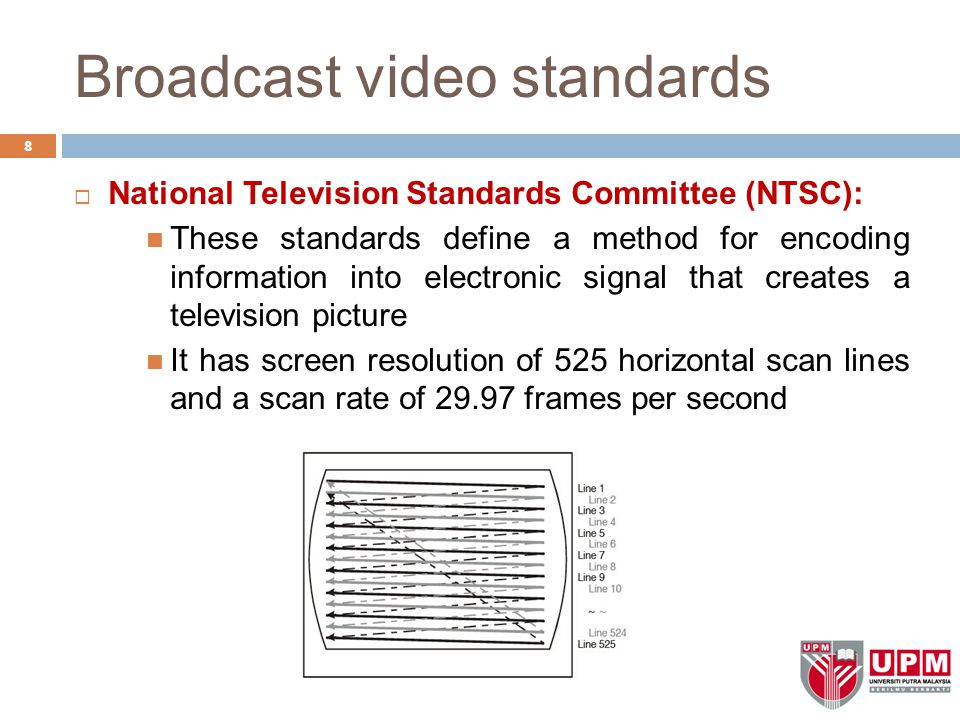 Broadcast video standards