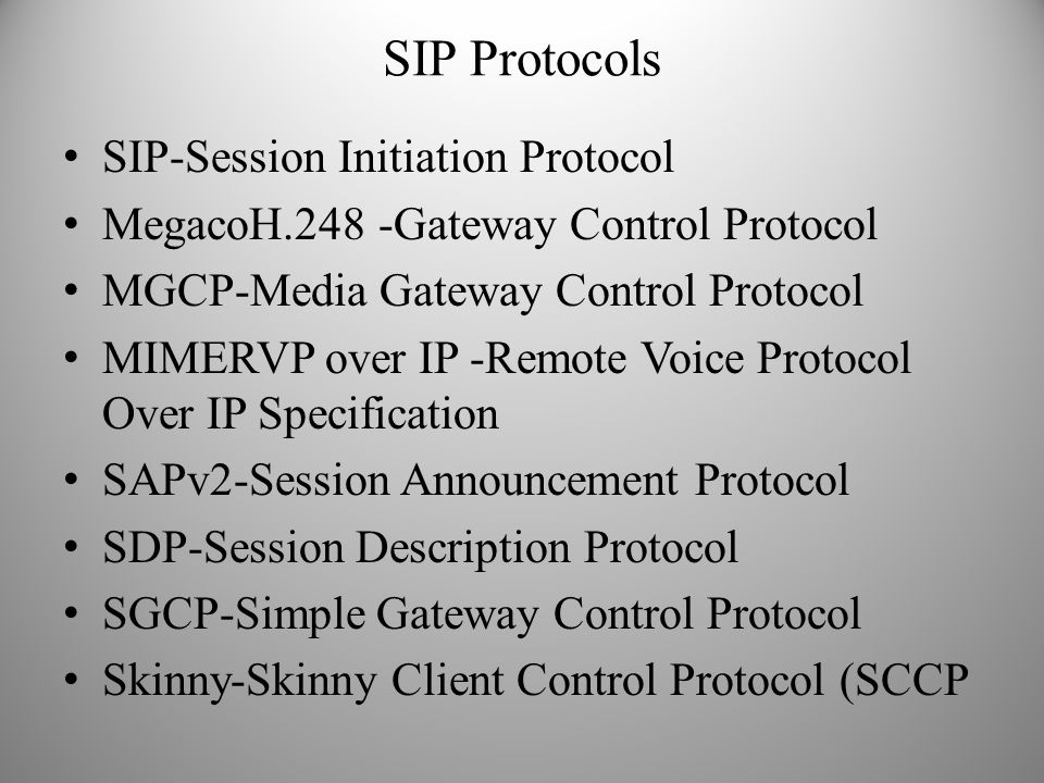 SIP Protocols SIP-Session Initiation Protocol