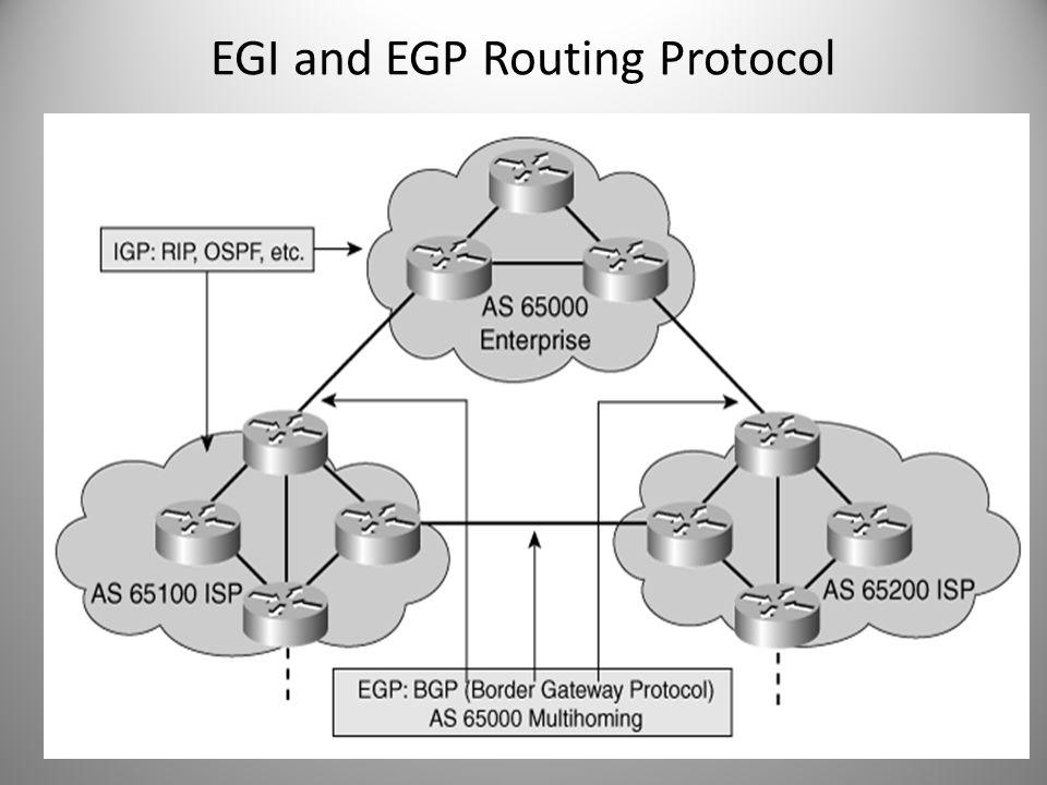 EGI and EGP Routing Protocol