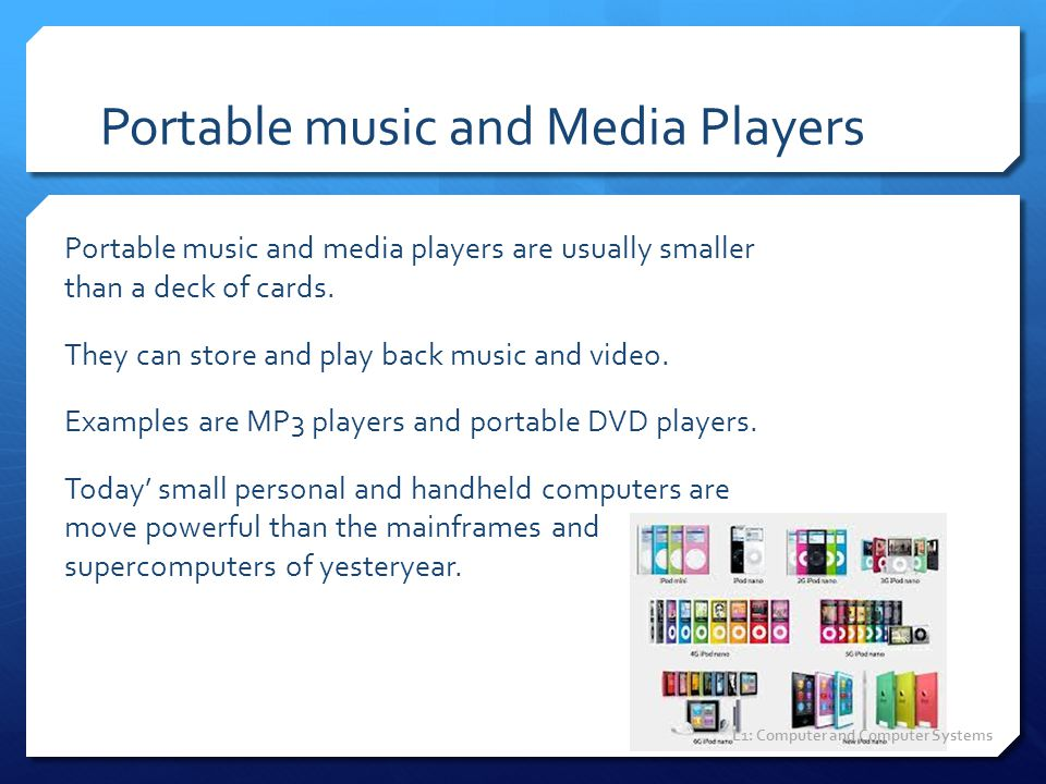 Portable music and Media Players