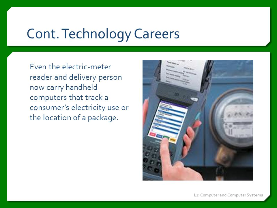 Cont. Technology Careers