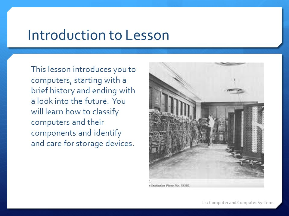 Introduction to Lesson