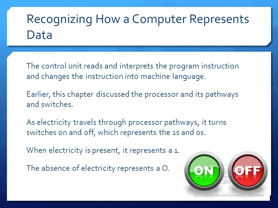 Recognizing How a Computer Represents Data