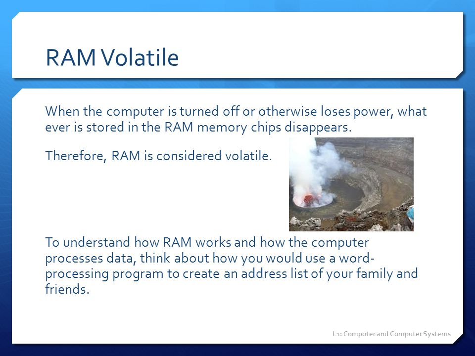 RAM Volatile