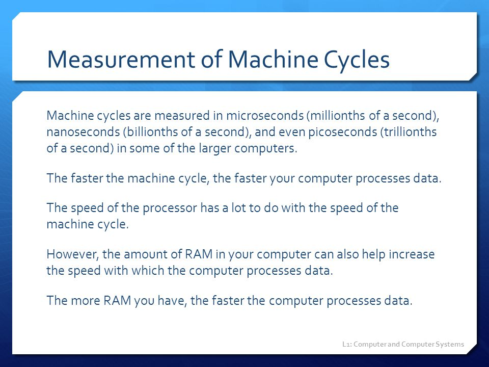 Measurement of Machine Cycles