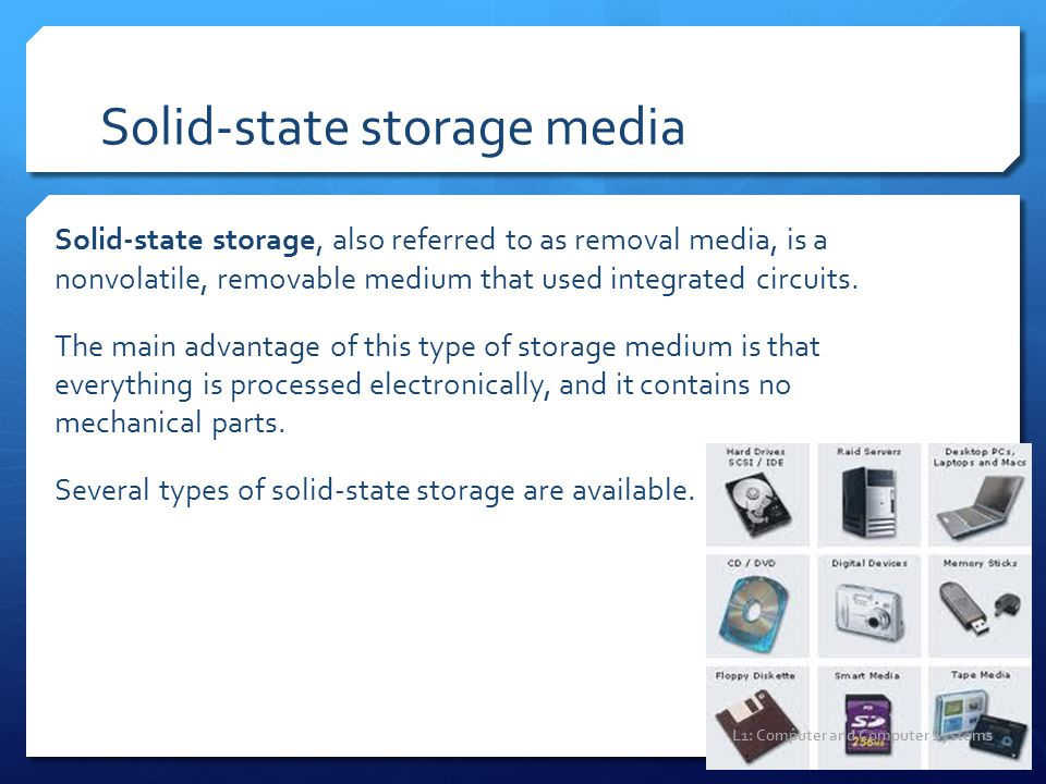 Solid-state storage media