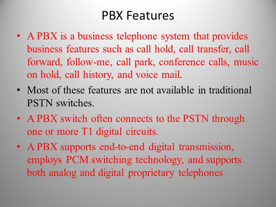 PBX Features