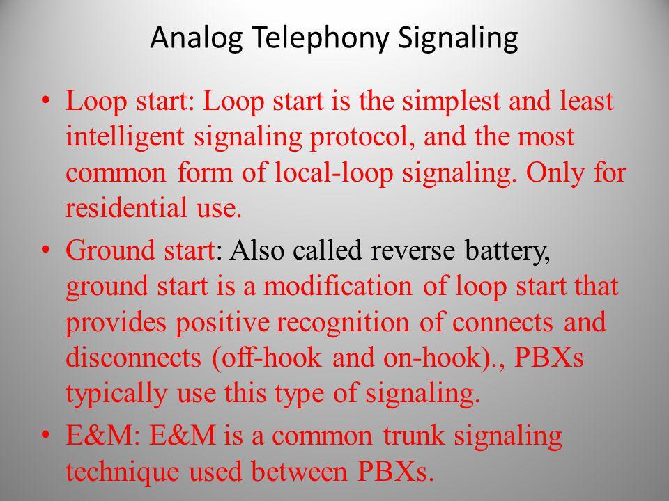 Analog Telephony Signaling