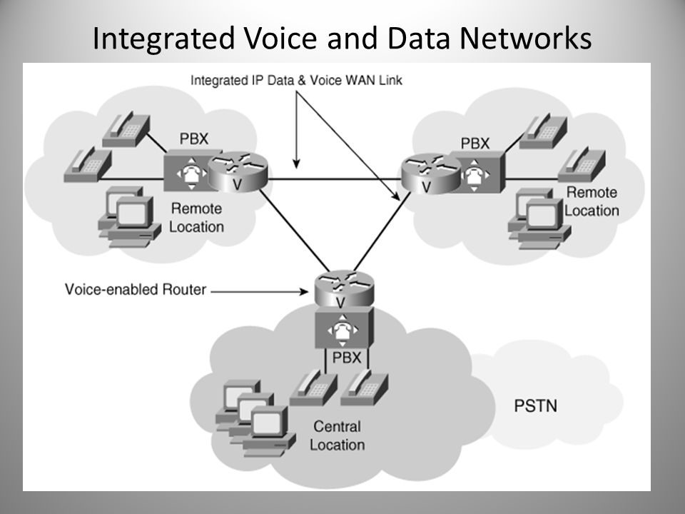 Integrated Voice and Data Networks