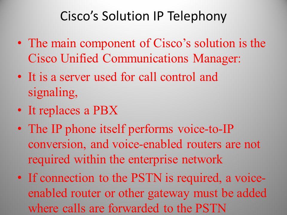 Cisco's Solution IP Telephony