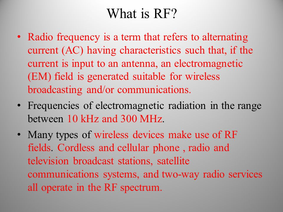 What is RF