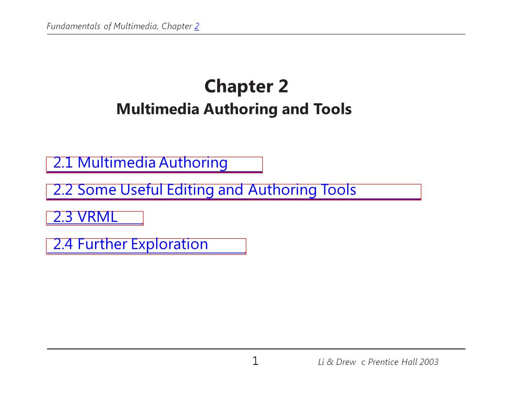 Multimedia Authoring and Tools