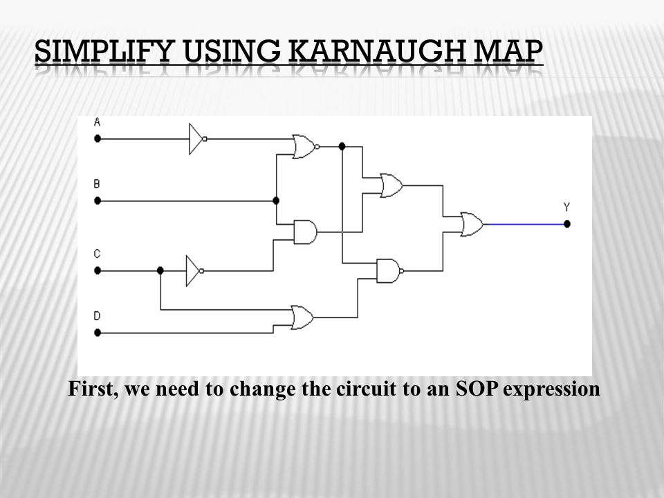 Simplify using Karnaugh map