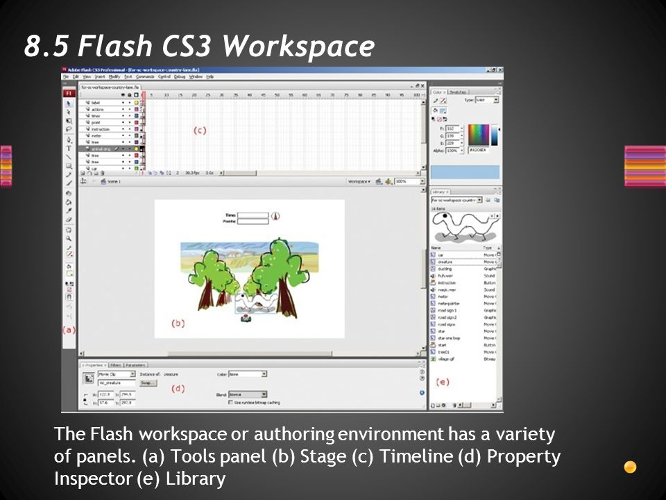 8.5 Flash CS3 Workspace