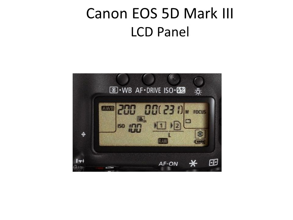 Canon EOS 5D Mark III LCD Panel