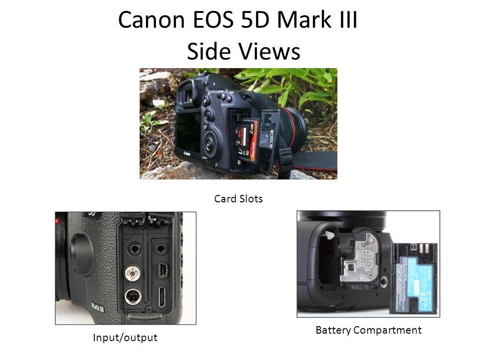 Canon EOS 5D Mark III Side Views