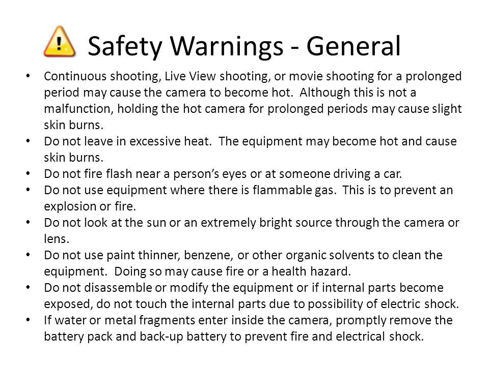 Safety Warnings - General