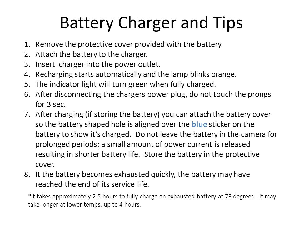 Battery Charger and Tips