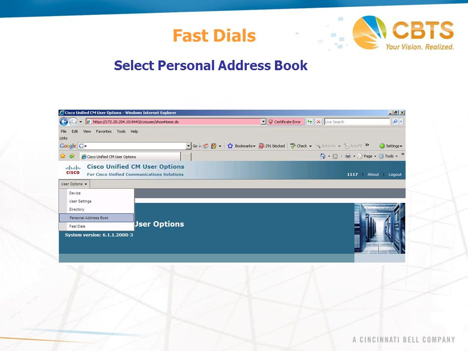 Fast Dials Select Personal Address Book