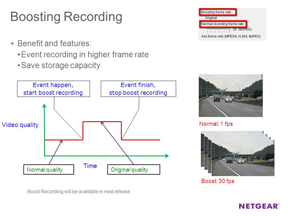 Boosting Recording Benefit and features: