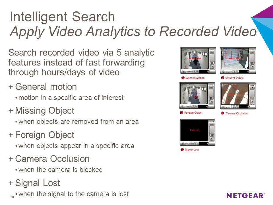Intelligent Search Apply Video Analytics to Recorded Video
