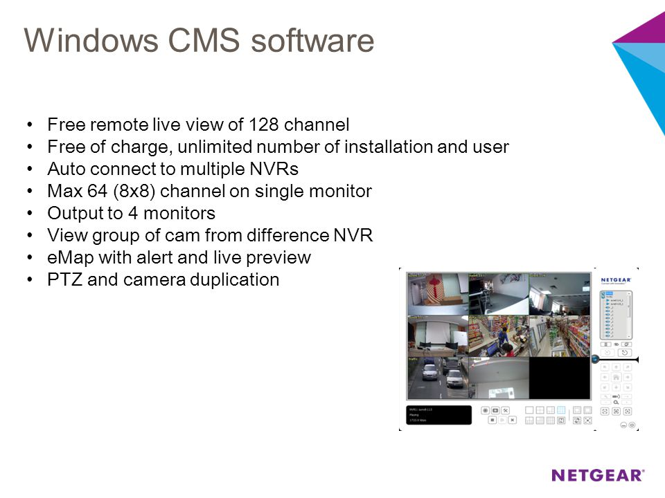 Windows CMS software Free remote live view of 128 channel