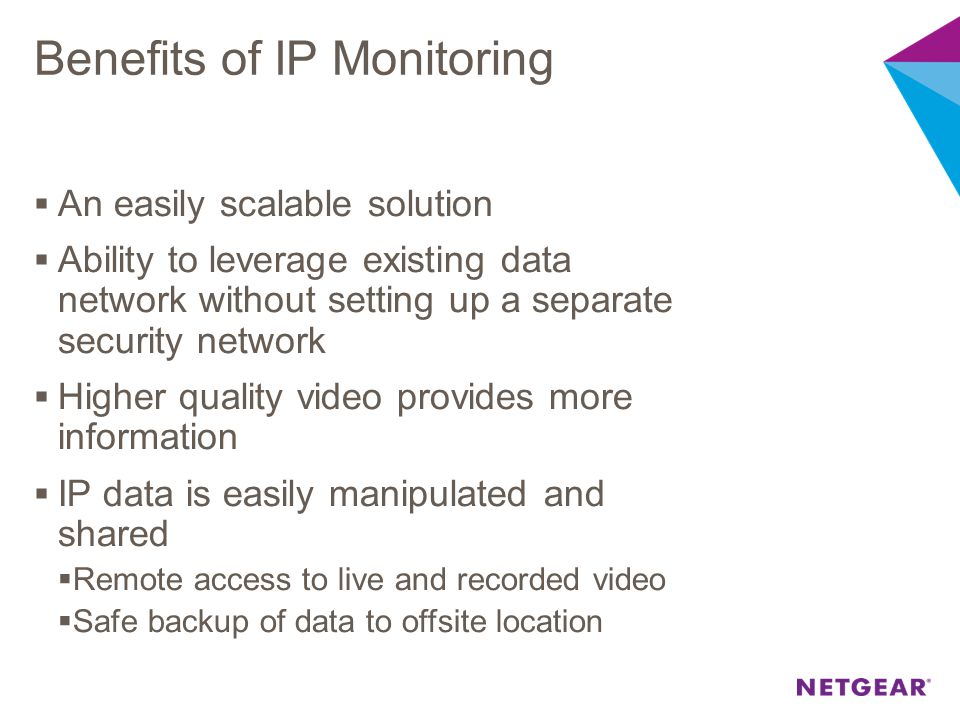 Benefits of IP Monitoring