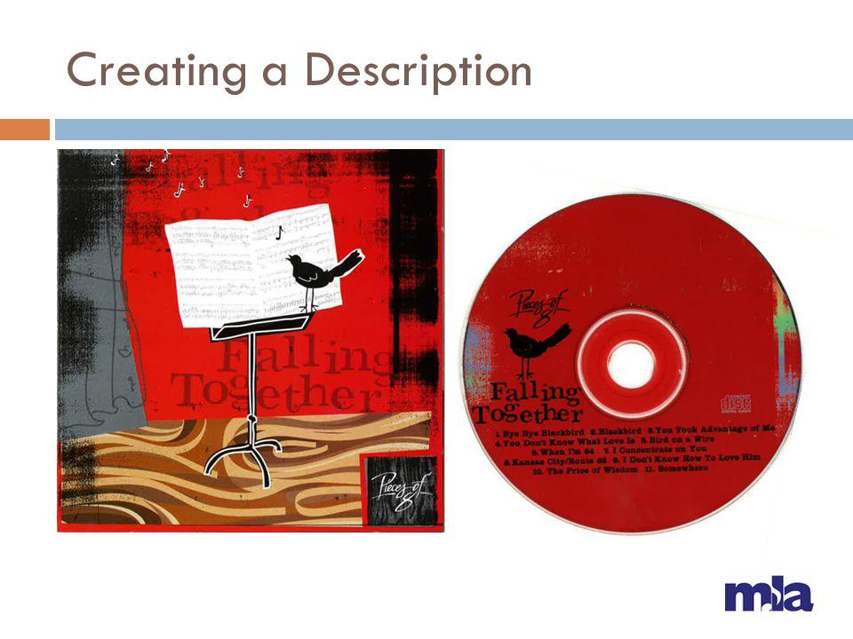 Creating a Description