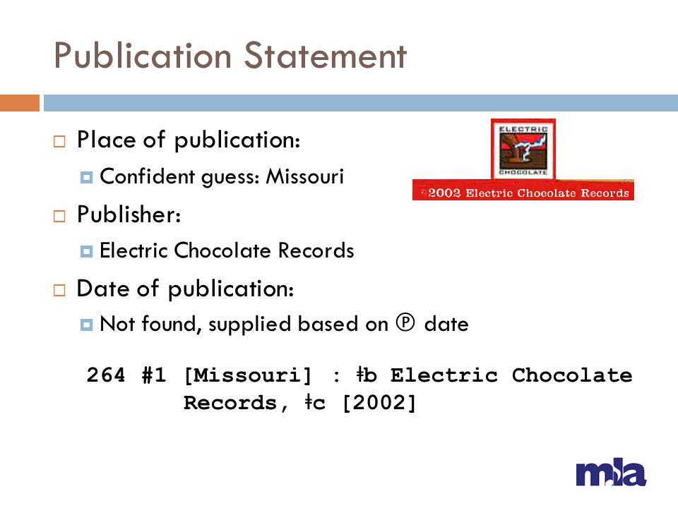 Publication Statement