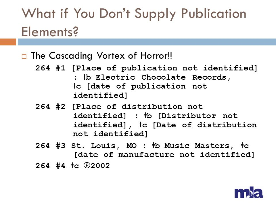 What if You Don't Supply Publication Elements