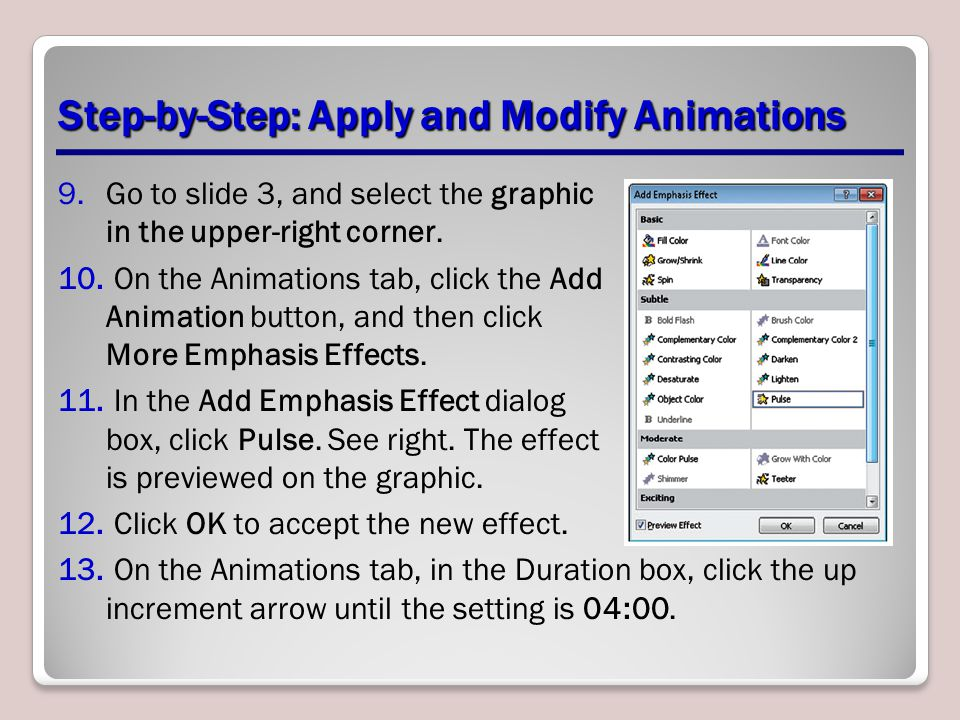 Step-by-Step: Apply and Modify Animations