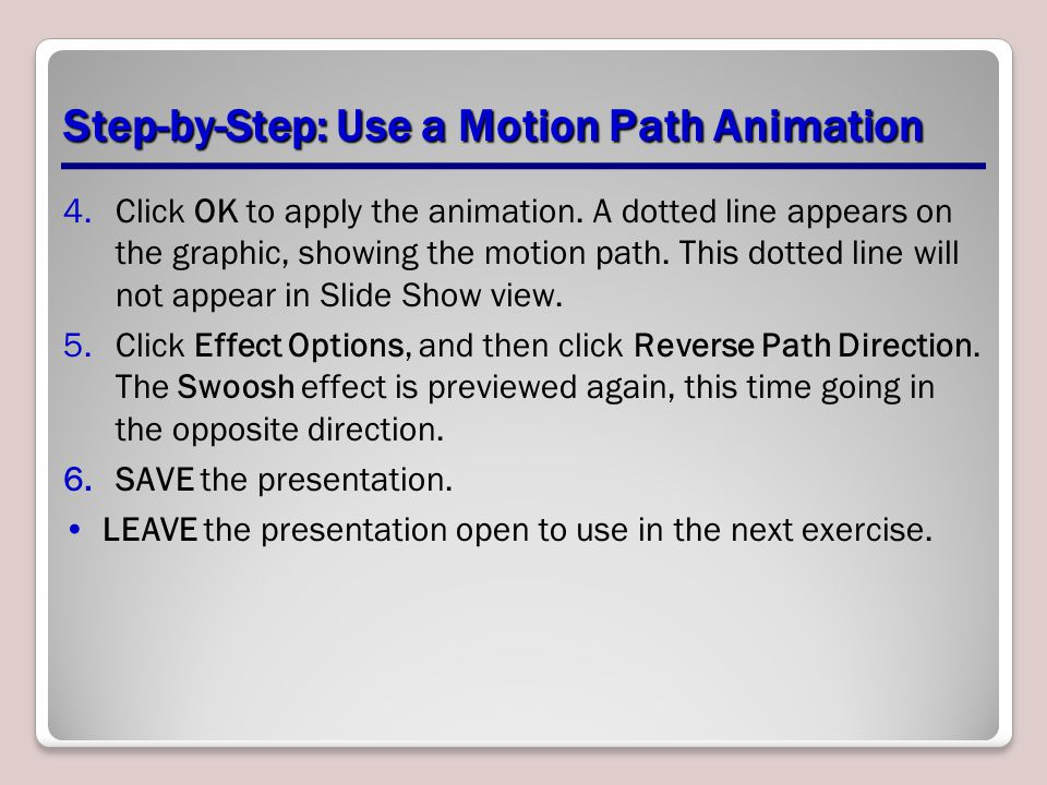 Step-by-Step: Use a Motion Path Animation