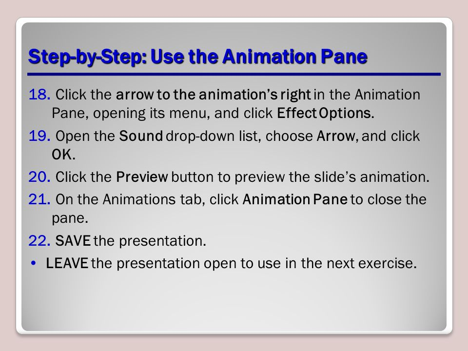 Step-by-Step: Use the Animation Pane