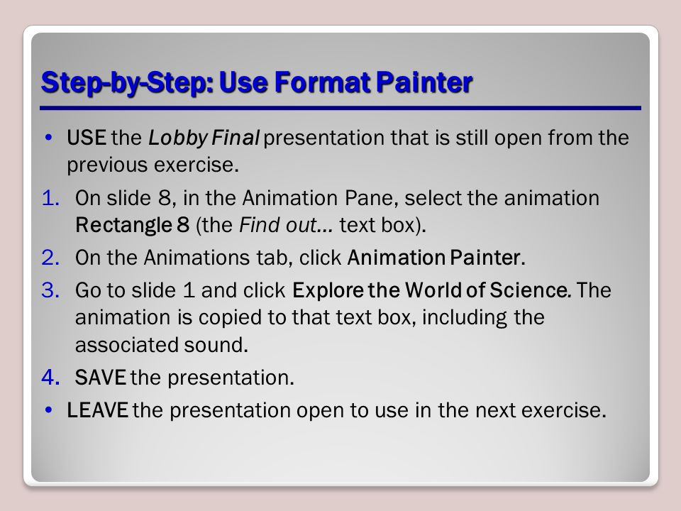 Step-by-Step: Use Format Painter