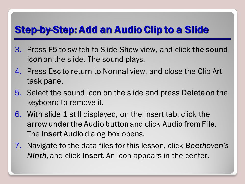 Step-by-Step: Add an Audio Clip to a Slide
