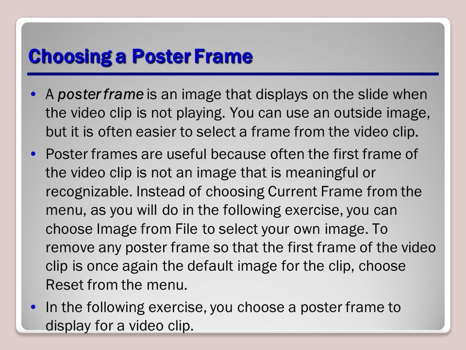 Choosing a Poster Frame