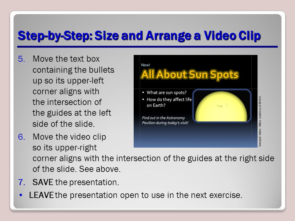 Step-by-Step: Size and Arrange a Video Clip
