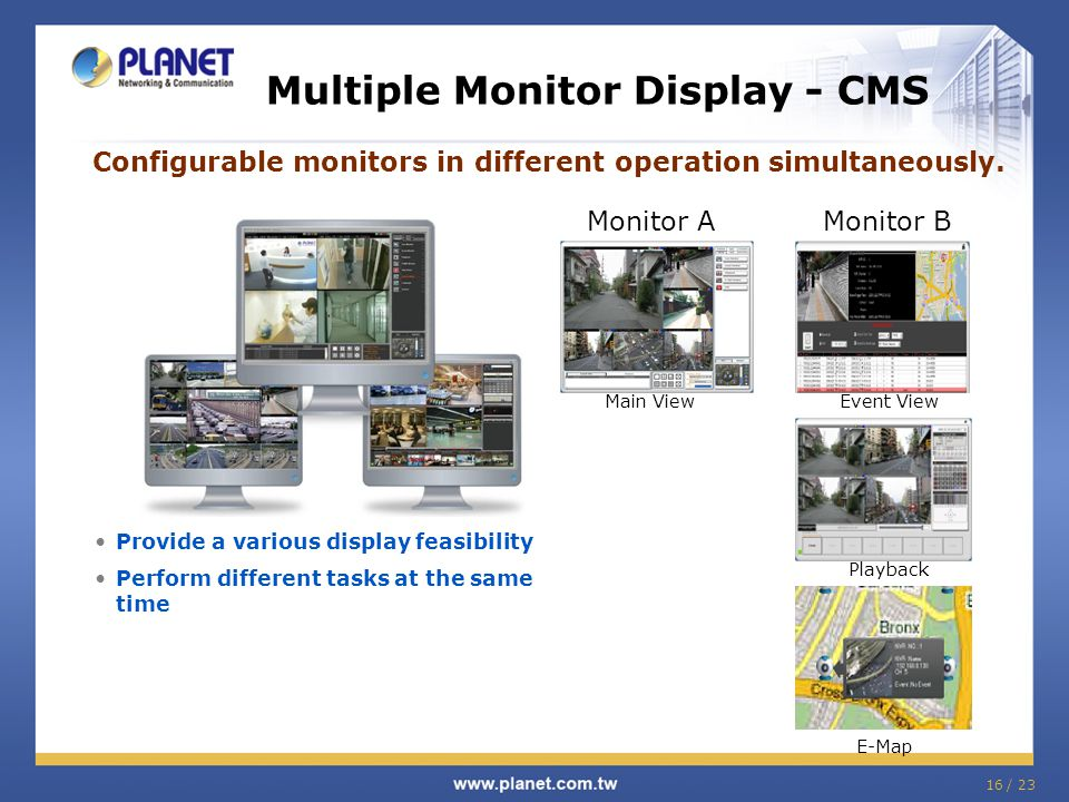 Multiple Monitor Display - CMS