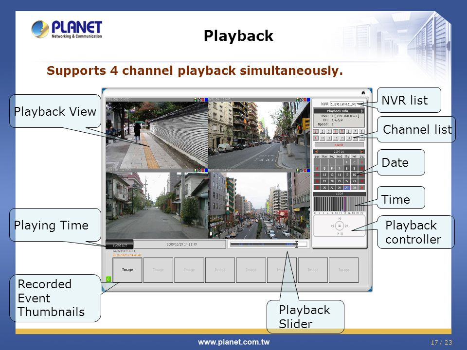 Supports 4 channel playback simultaneously.