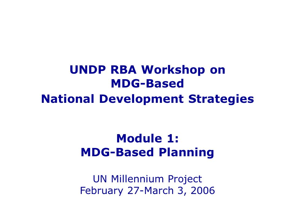 National Development Strategies